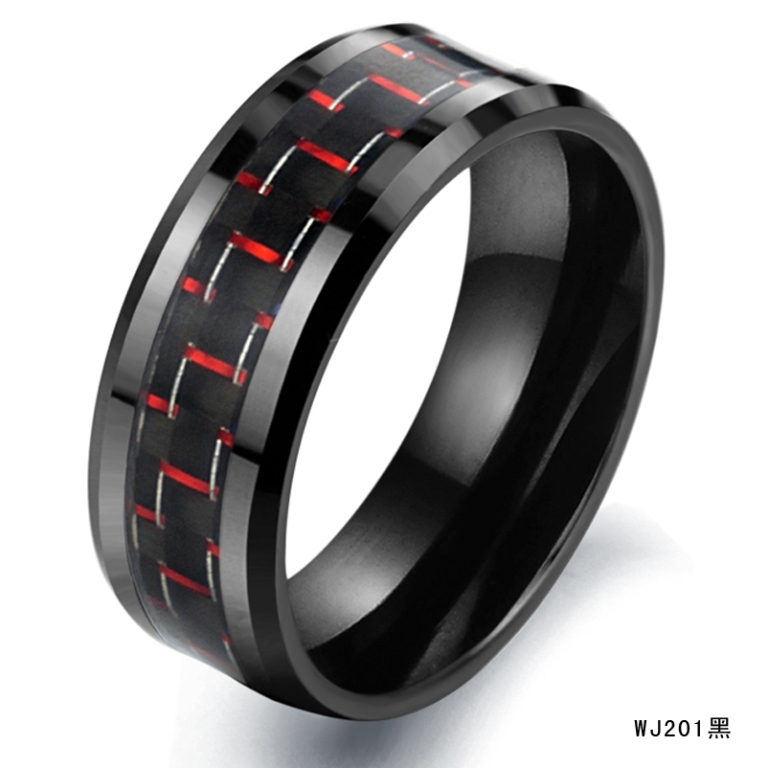 Wholesale-Fashion-font-b-Rings-b-font-Black-font-b-Carbon-b-font-font-b-Fiber 60 Unbelievable Ceramic Wedding Bands for Him & Her