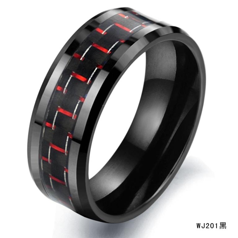 Wholesale-Fashion-font-b-Rings-b-font-Black-font-b-Carbon-b-font-font-b-Fiber 60 Unbelievable Ceramic Wedding Bands for Him & Her