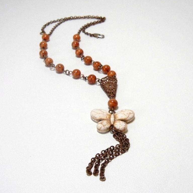 Womens_Handmade_Beaded_Necklace_-_Whimsical_Butterfly-3 65 Fabulous & Stunning Handmade Beaded Gemstone Jewelries