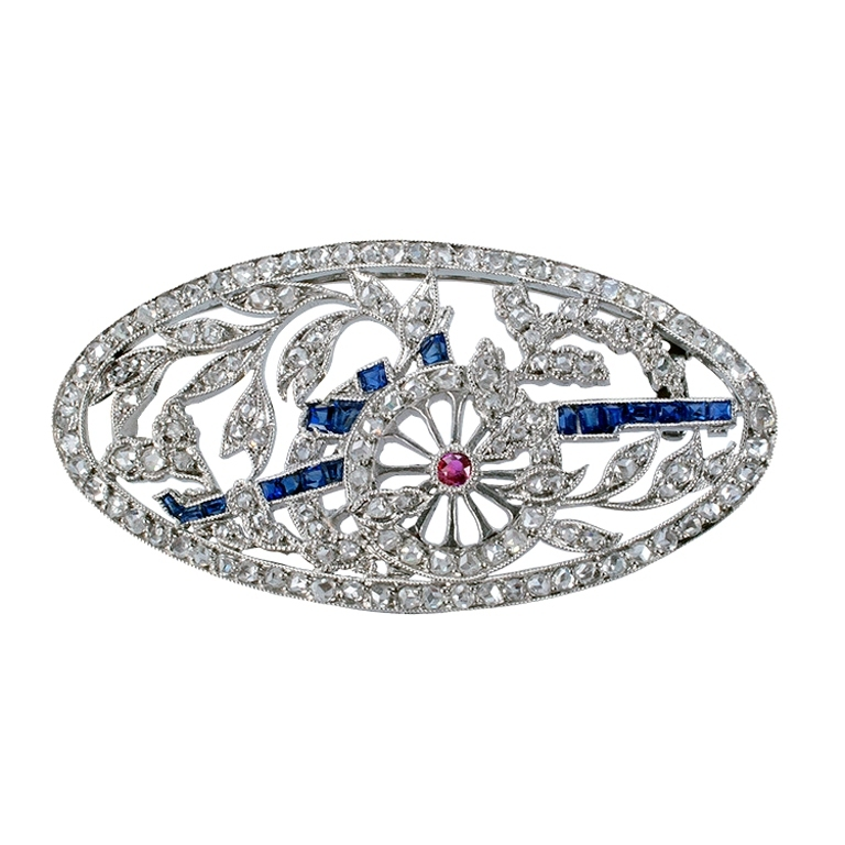 XXX_173_1354570179_1 35 Elegant & Wonderful Antique Diamond Brooches