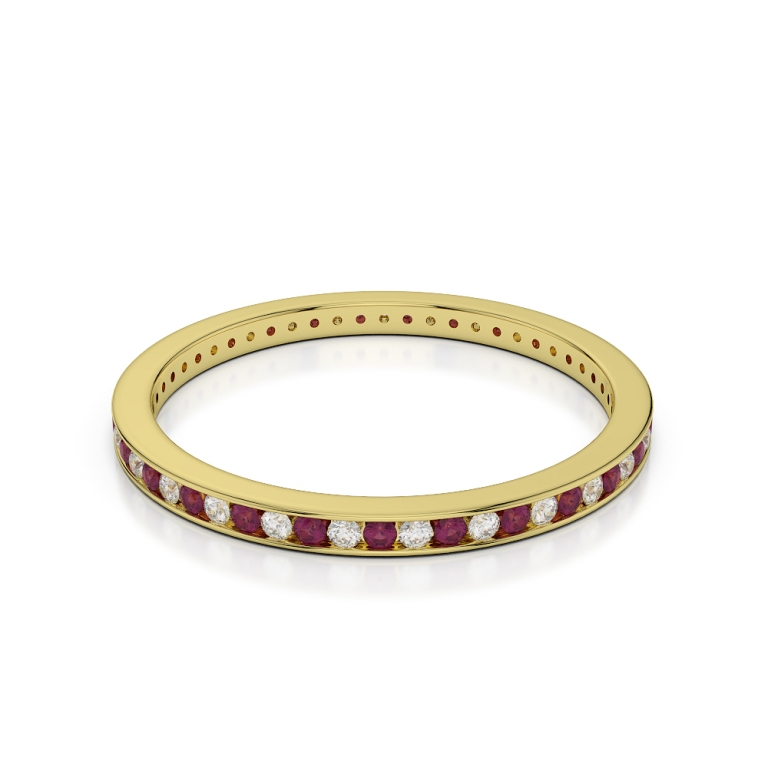 YGold_Ruby_Eternity_Ring_1085_2 55 Fascinating & Marvelous Ruby Eternity Rings