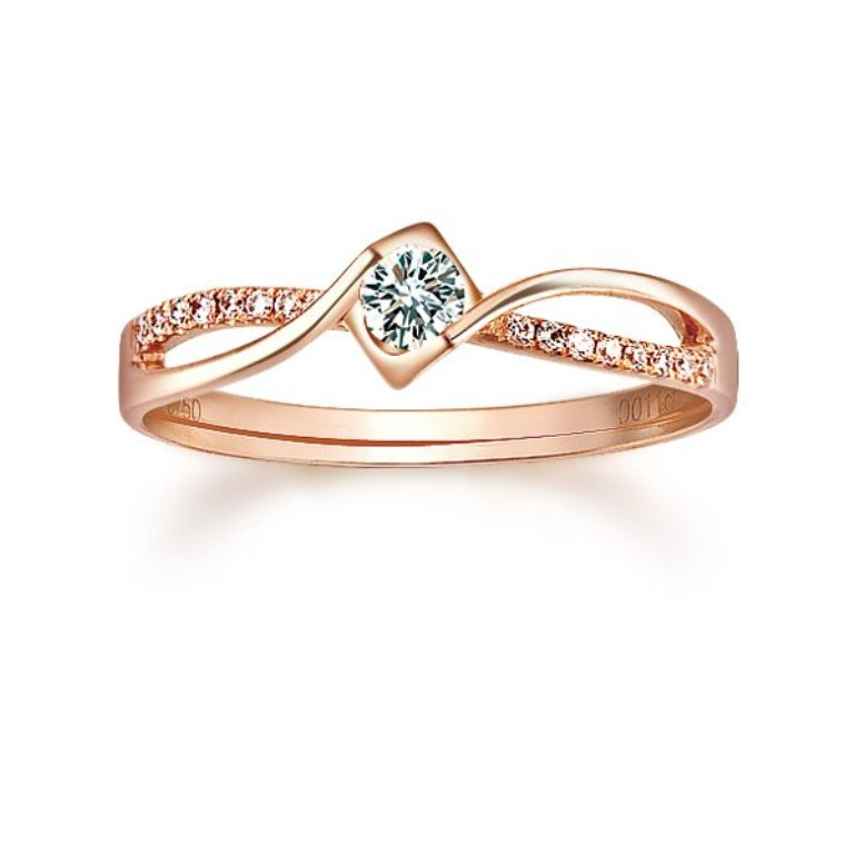 ZOCAI-0-2-CT-CERTIFIED-DIAMOND-ENGAGEMENT-RING-ROUND-CUT-18K-ROSE-GOLD-FREE-SHIPPING Top 70 Dazzling & Breathtaking Rose Gold Engagement Rings