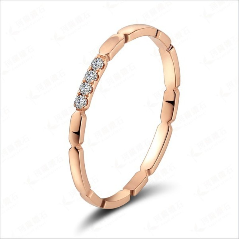 affordable-diamond-wedding-ring-for-women-in-18ct-rose-gold Top 60 Stunning & Marvelous Rose Gold Wedding Bands