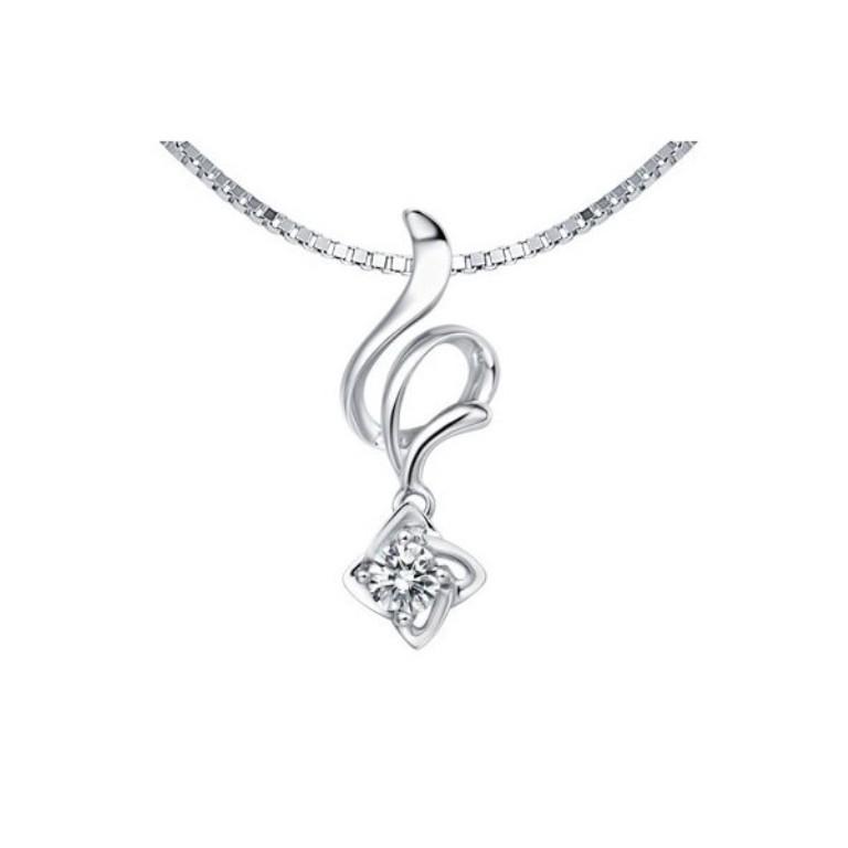 affordable-unique-diamond-pendant-on-10k-white-gold 50 Unique Diamond Necklaces & Pendants