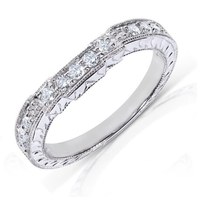 antique-round-diamond-wedding-band-for-her-in-white-gold 60 Breathtaking & Marvelous Diamond Wedding bands for Him & Her