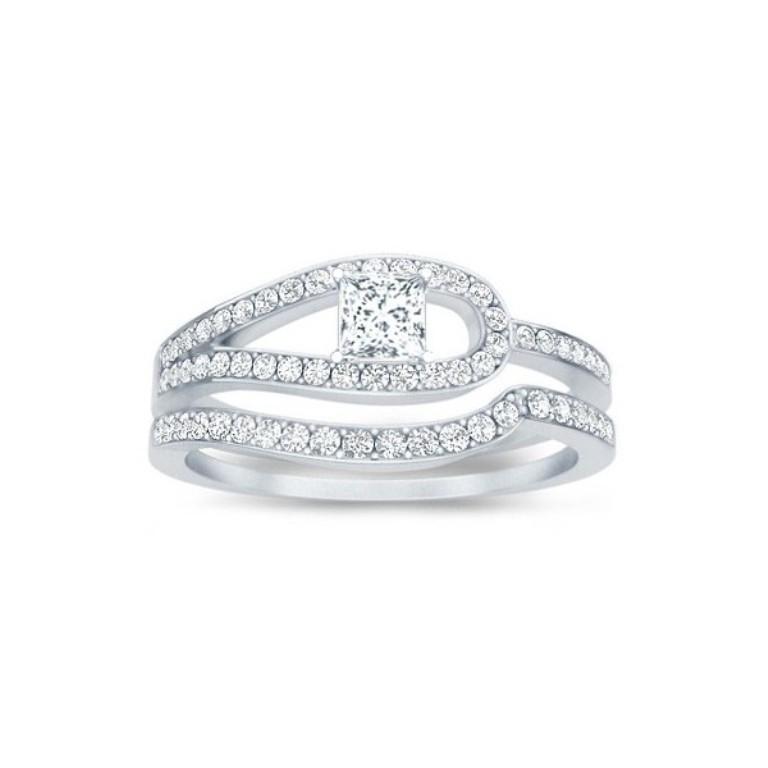 antique-style-wedding-ring-set 35 Dazzling & Catchy Bridal Wedding Ring Sets