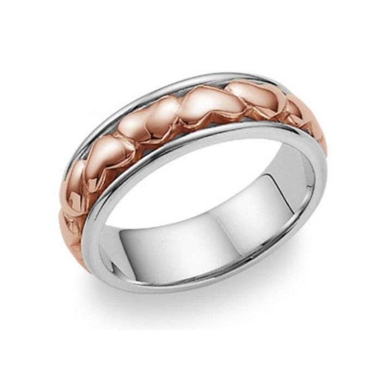 apples-of-gold-eternal-heart-wedding-band-ring-14k-white-and-rose-gold-368951-1 Top 60 Stunning & Marvelous Rose Gold Wedding Bands