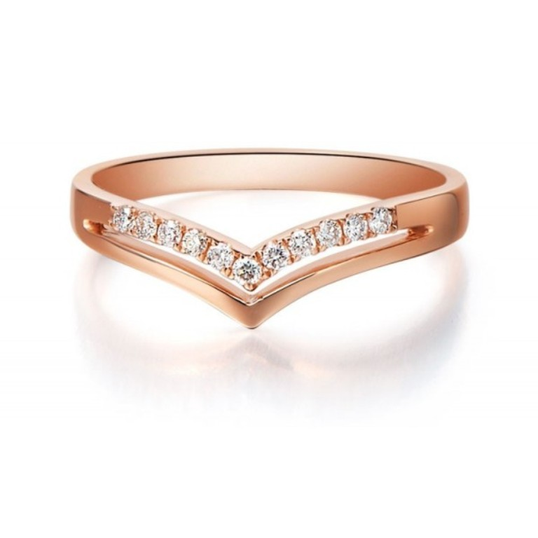 beautiful-diamond-wedding-band-on-18ct-rose-gold. Top 60 Stunning & Marvelous Rose Gold Wedding Bands