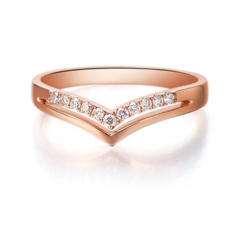 beautiful-diamond-wedding-band-on-18ct-rose-gold. Top 60 Stunning & Marvelous Rose Gold Wedding Bands