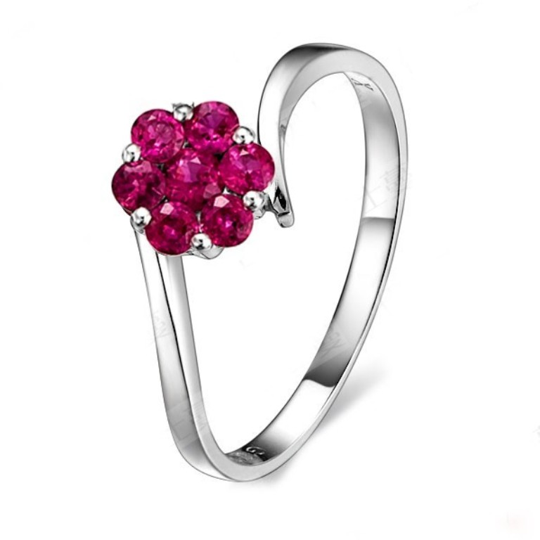 beautiful-ruby-wedding-ring-on-10k-white-gold 55 Fascinating & Marvelous Ruby Eternity Rings