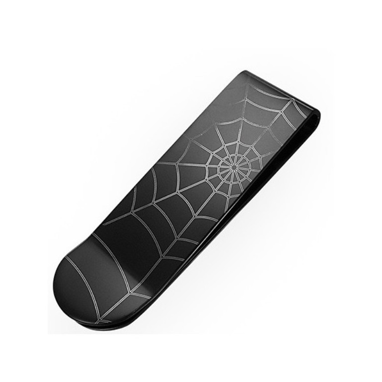 black-stainless-steel-spiders-web-mens-money-clip Best 35 Money Clips for Men