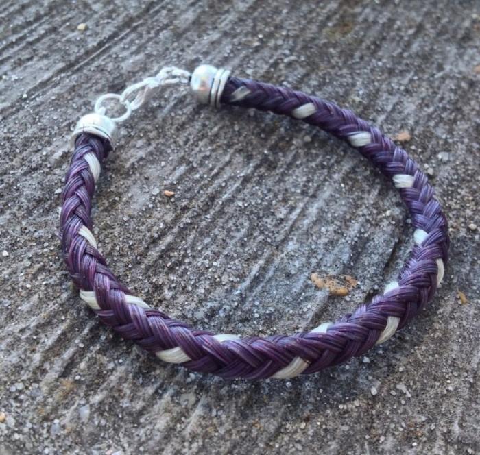 braided_horsehair_bracelet___purple_white_by_tarpanbeadworks-d6prc2e 45 Elegant & Breathtaking Horse Hair Bracelets