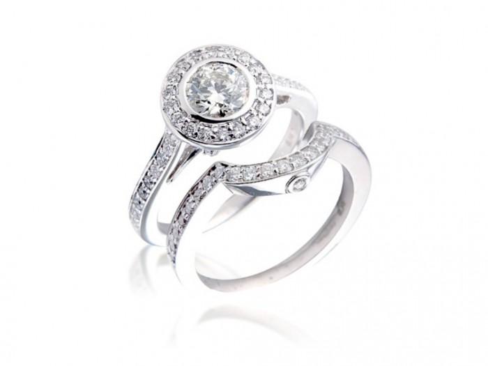 bridal-ring-sets-1.4-carat-diamond-total-weight-18-carat-gold-3373-p 35 Dazzling & Catchy Bridal Wedding Ring Sets
