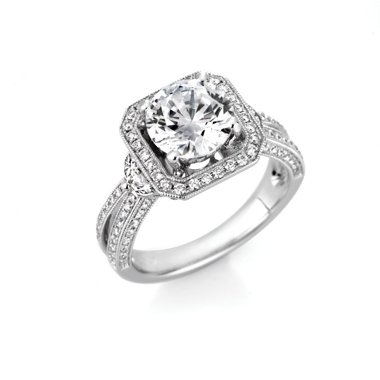 cat_61 35 Fascinating & Stunning Round Solitaire Engagement Rings