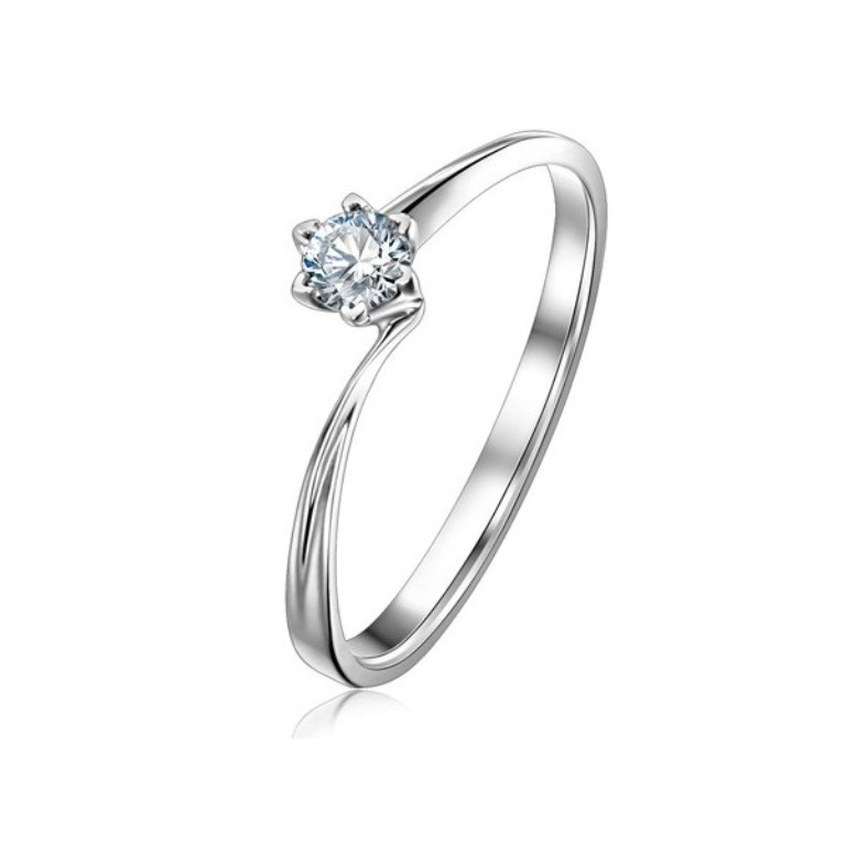 cheap-round-solitaire-diamond-engagement-ring-on-gold 35 Fascinating & Stunning Round Solitaire Engagement Rings