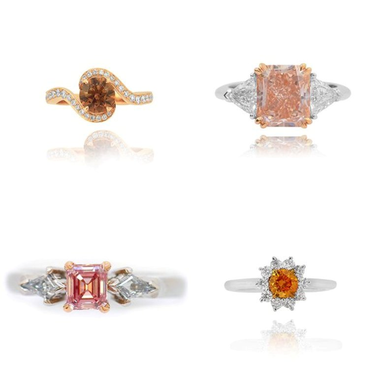 colored-diamond-rings 60 Magnificent & Breathtaking Colored Stone Engagement Rings