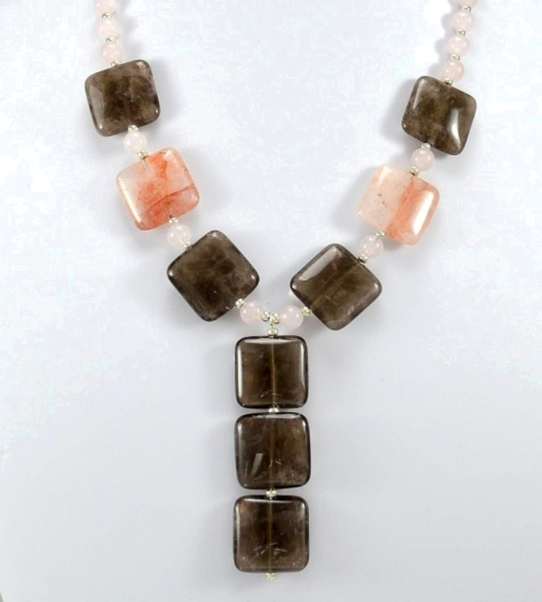 combo-quartz-necklace 65 Fabulous & Stunning Handmade Beaded Gemstone Jewelries
