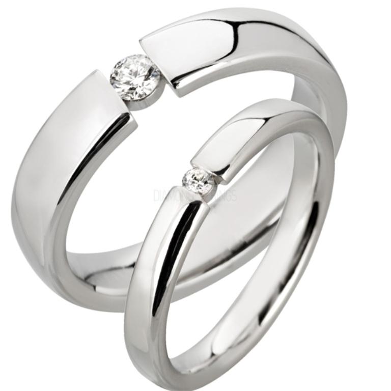 court_diamond_wedding_ring_set 60 Breathtaking & Marvelous Diamond Wedding bands for Him & Her