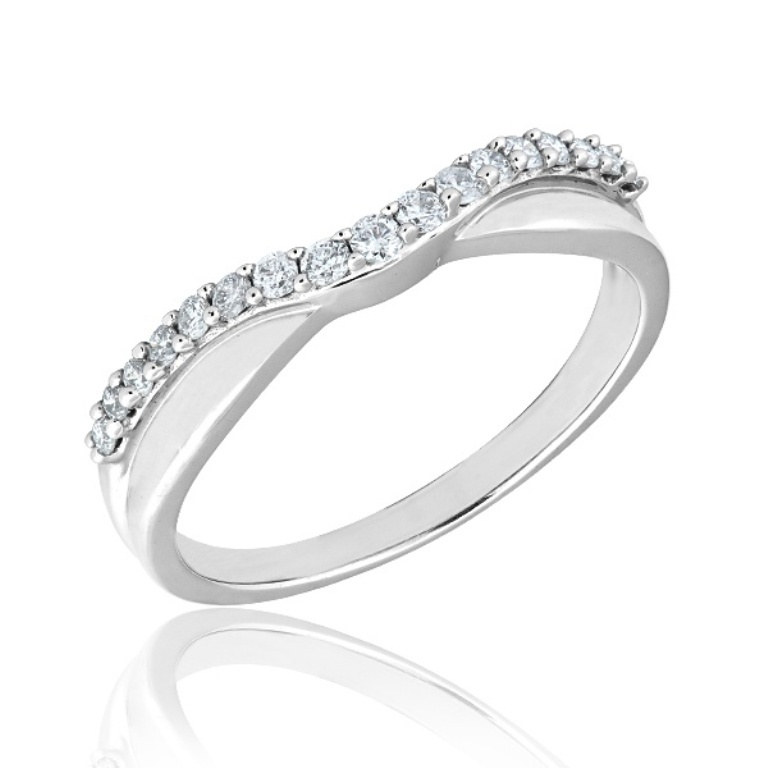 curved-diamond-wedding-rings 60 Breathtaking & Marvelous Diamond Wedding bands for Him & Her