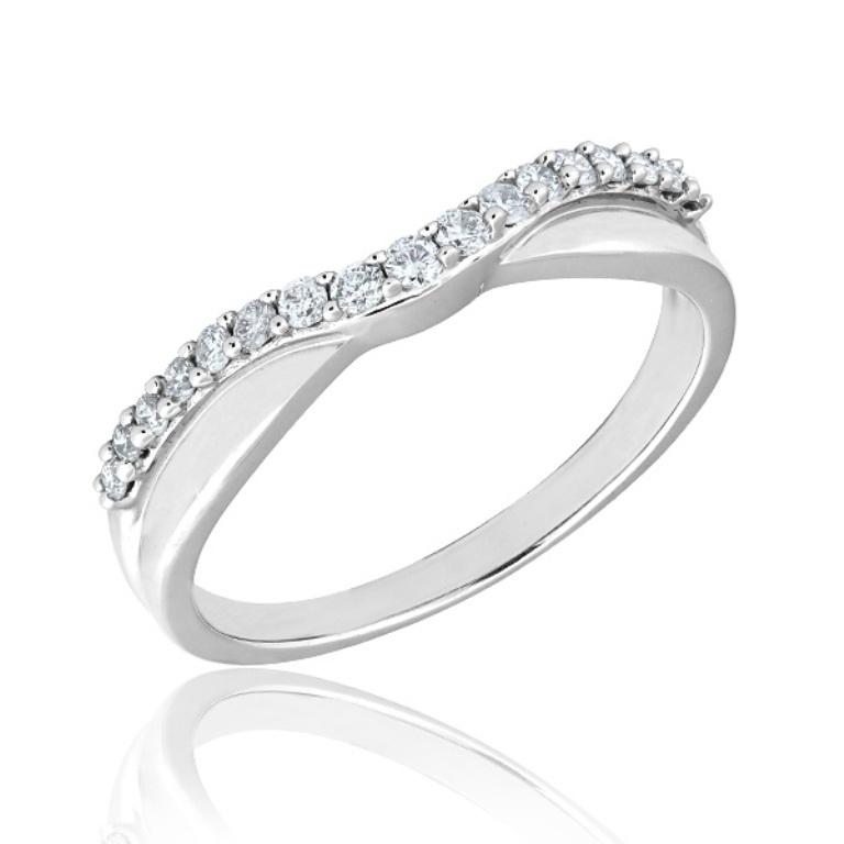 curved-diamond-wedding-rings 60 Breathtaking & Marvelous Diamond Wedding bands for Him & Her