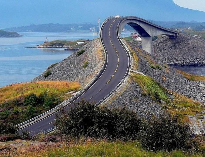 curvybridgeatlanticroad 55 Most Fascinating & Weird Roads Like These Before?