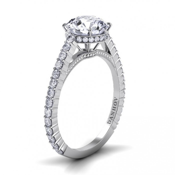 danhov-carezza-round-solitaire-single-shank-engagement-ring-4 35 Fascinating & Stunning Round Solitaire Engagement Rings