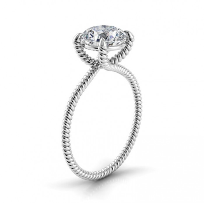 danhov-eleganza-round-solitaire-braided-engagement-ring-29 35 Fascinating & Stunning Round Solitaire Engagement Rings