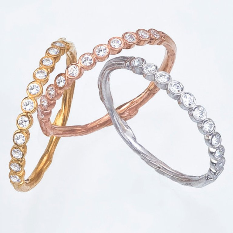 diamond-wedding-band1 Top 60 Stunning & Marvelous Rose Gold Wedding Bands