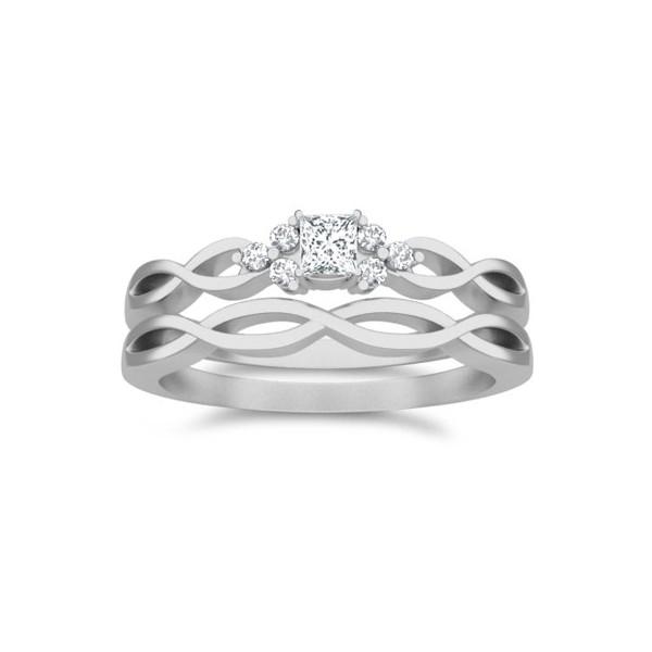 diamond-wedding-ring-set 35 Dazzling & Catchy Bridal Wedding Ring Sets