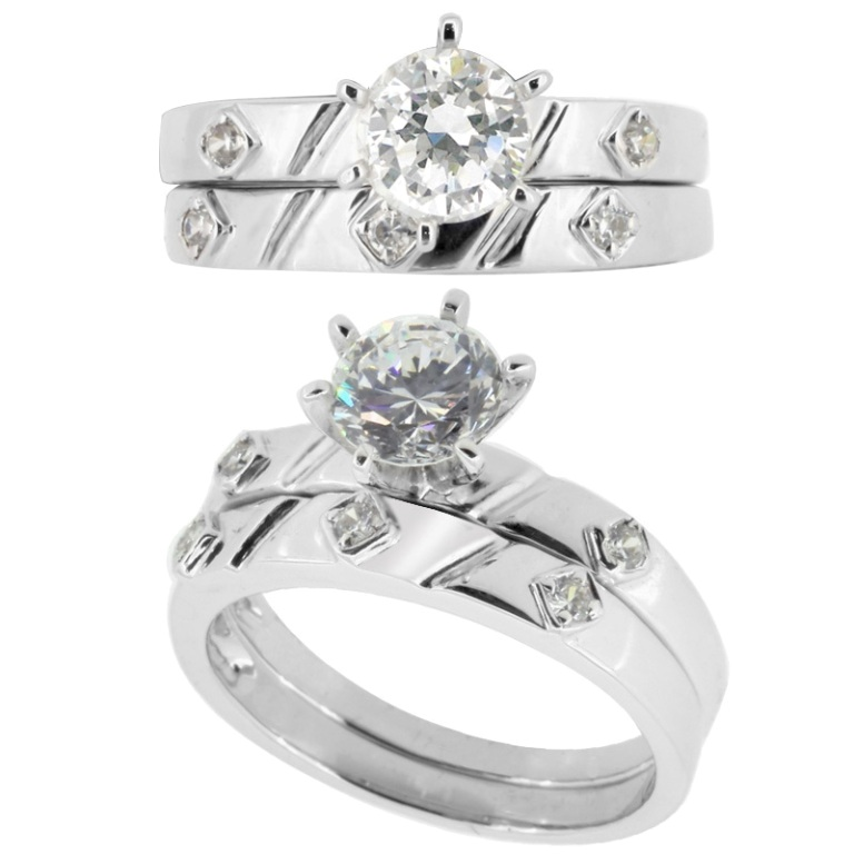 diamond-wedding-ring-sets-for-bride-and-groom 35 Dazzling & Catchy Bridal Wedding Ring Sets