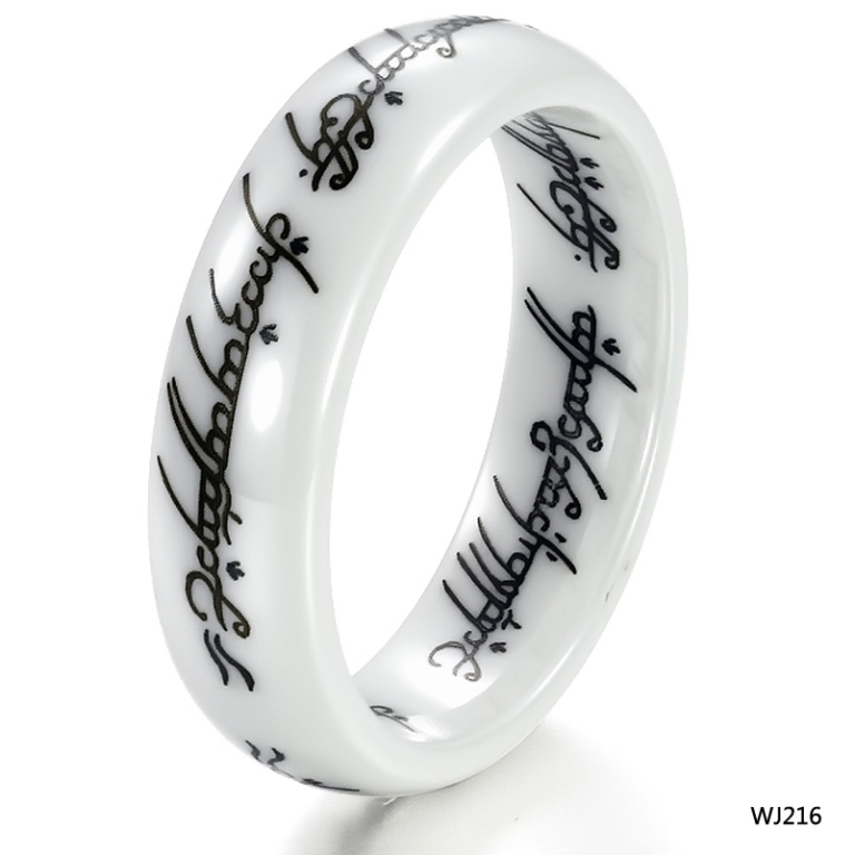 dropping-shipping-Accessories-font-b-ring-b-font-lettering-scripture-vintage-font-b-white-b-font 60 Unbelievable Ceramic Wedding Bands for Him & Her