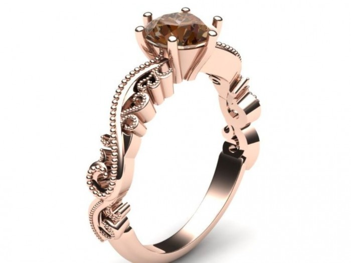 e658791fe656dac643d0a805153f4da5 Top 70 Dazzling & Breathtaking Rose Gold Engagement Rings