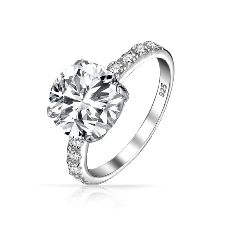 engagement-ring-side-stones-silver_yc-ycr1293 35 Fascinating & Stunning Round Solitaire Engagement Rings