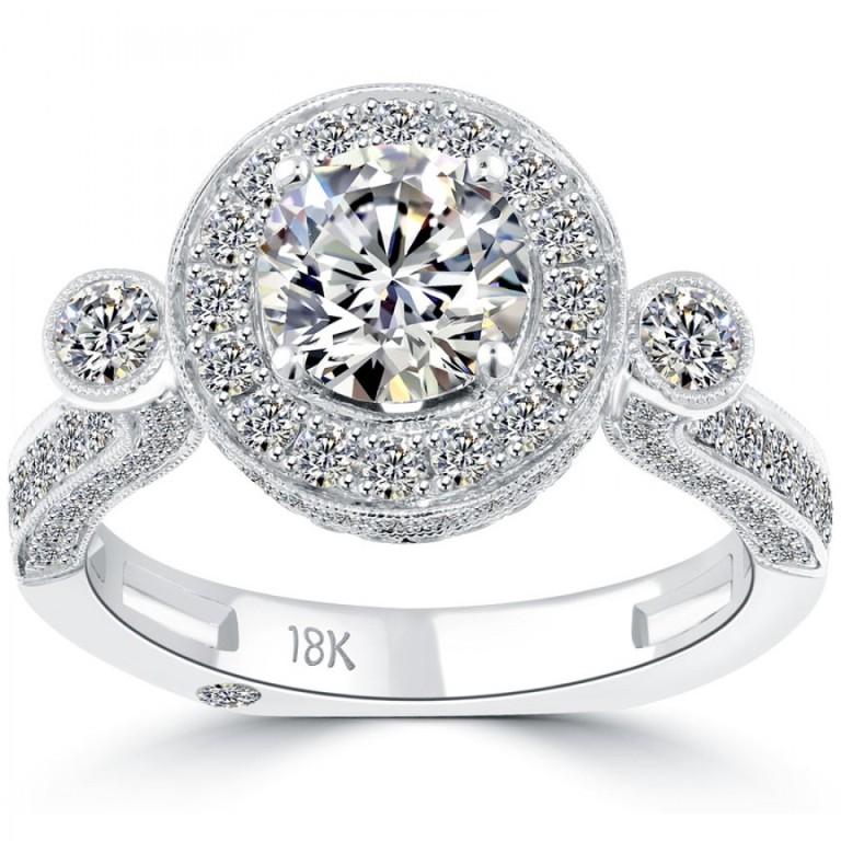 er-0476-1 50 Unique Vintage Classic Diamond Engagement Rings