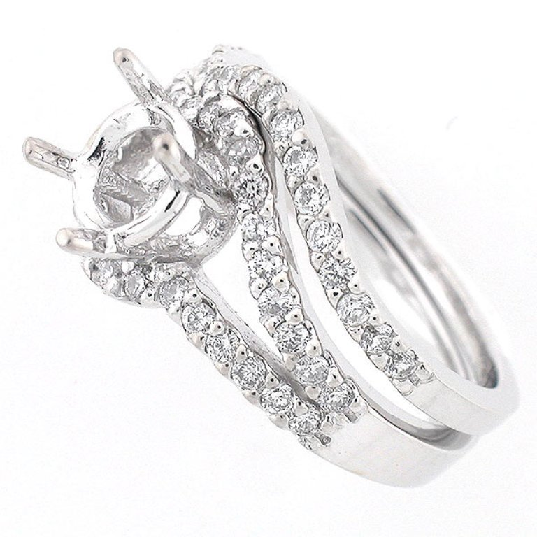 ers0014wb 35 Dazzling & Catchy Bridal Wedding Ring Sets