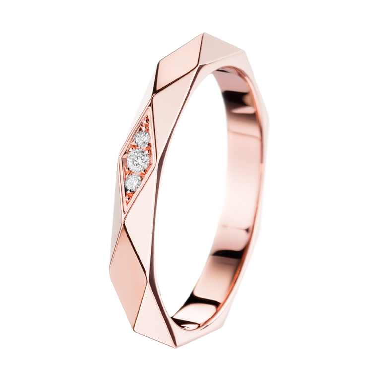 facette-pink-gold-and-diamond-wedding-band-jal00091 Top 60 Stunning & Marvelous Rose Gold Wedding Bands