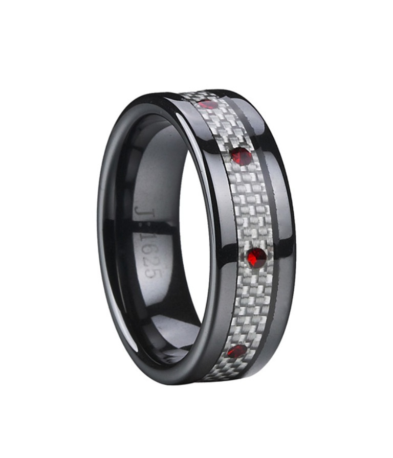 fb1625_ceramic-black-rings_1__39087_zoom 60 Unbelievable Ceramic Wedding Bands for Him & Her