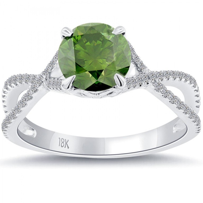 fd-056-1_2 30 Fascinating & Dazzling Green diamond rings
