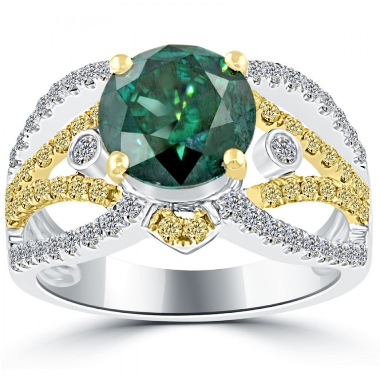 fd-073-1_1 30 Fascinating & Dazzling Green diamond rings