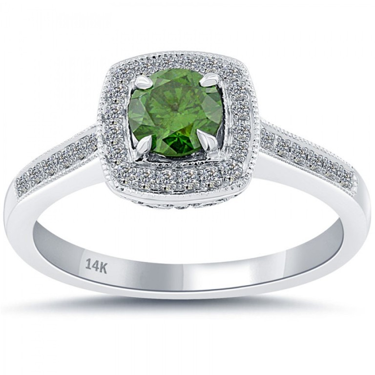 fd-112-1_2 30 Fascinating & Dazzling Green diamond rings