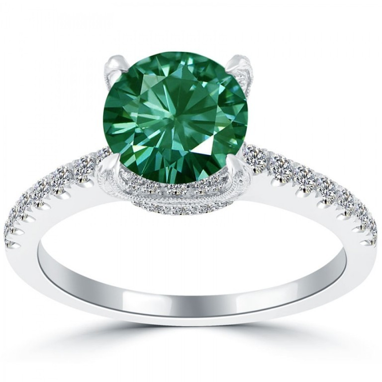 fd-312-1_6 30 Fascinating & Dazzling Green diamond rings