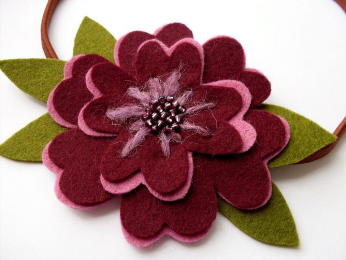 felt_flower_headband_pattern 45 Handmade Brooches to Start Making Yours on Your Own