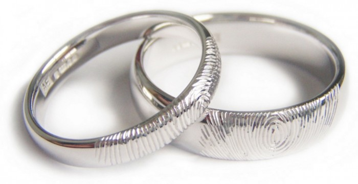 finger-print-wedding-rings 40 Unique & Unusual Wedding Rings for Him & Her