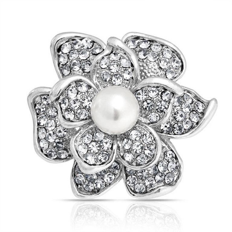 flower-pearl-brooch-white-crystal-round_faj-bh9004 50 Wonderful & Fascinating Pearl Brooches