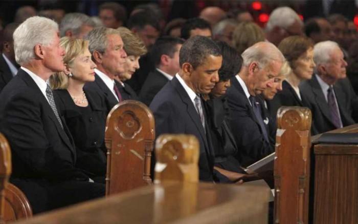 "former-presidents-obama-bush-carter-clinton The Anti-apartheid Icon "" Nelson Mandela "" Who Restored His People's Pride"