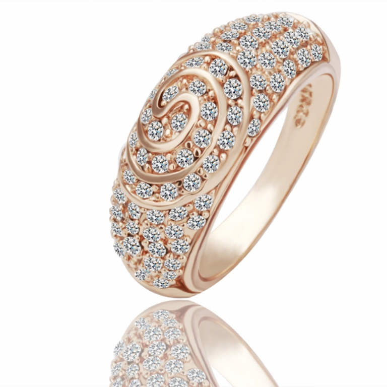 free-shipping-R069-18k-rose-gold-plated-copper-fashion-font-b-Swirl-b-font-rings-with Top 60 Stunning & Marvelous Rose Gold Wedding Bands