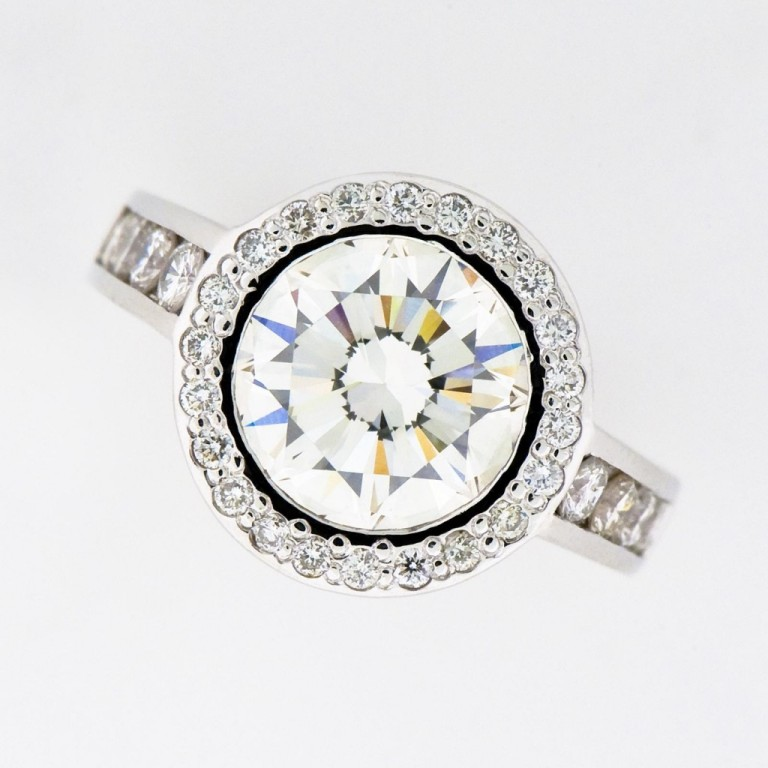 halo-style-engagement-ring-1024x1024 35 Fascinating & Stunning Round Solitaire Engagement Rings