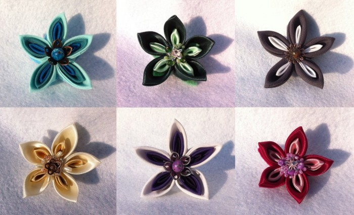 hand_made_tsumami_kanzashi_flower_brooch_by_bakenekoya-d5xc4pk 45 Handmade Brooches to Start Making Yours on Your Own