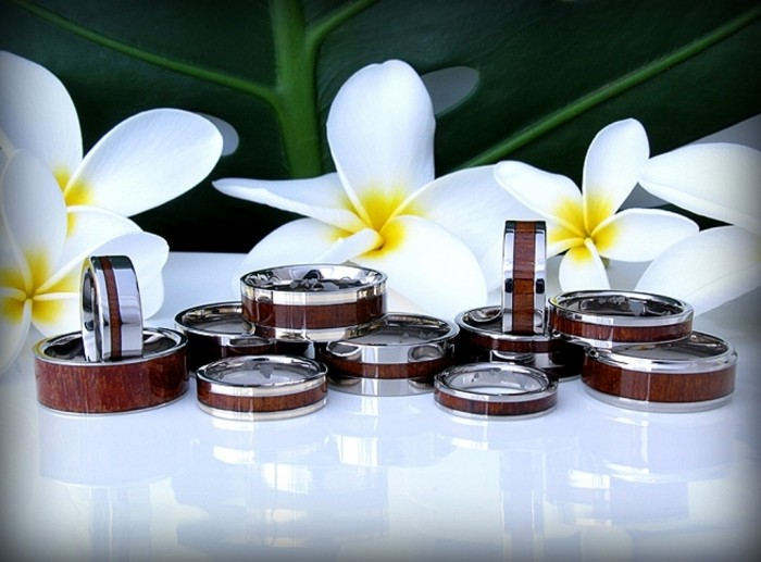 hawaiian_koa_jewelry Top 40 Gorgeous Hawaiian Wedding Rings and Bands