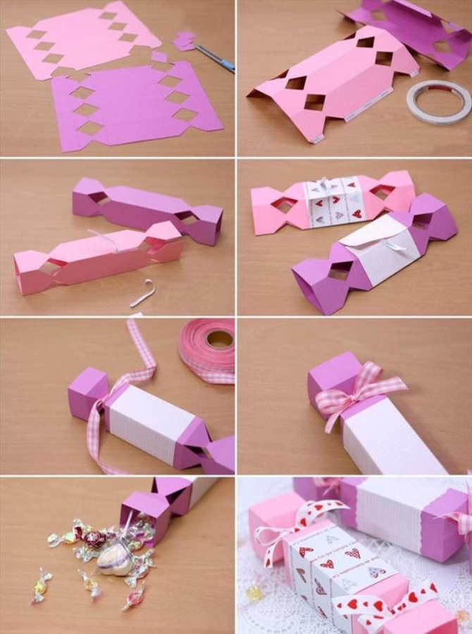 homemade-valentine-gift-wrapping-ideas-paper-candy-box 40 Creative & Unusual Gift Wrapping Ideas